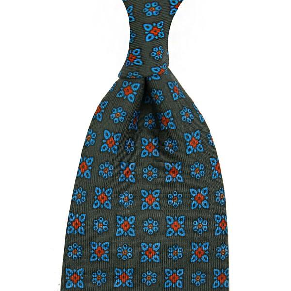 Ancient Madder Silk Tie - Army - Handrolled