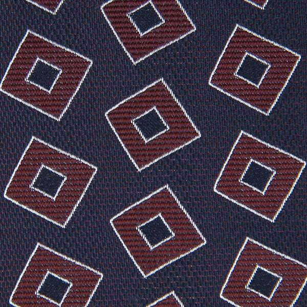 Vintage Geometrical Jacquard Bespoke Tie - Burgundy