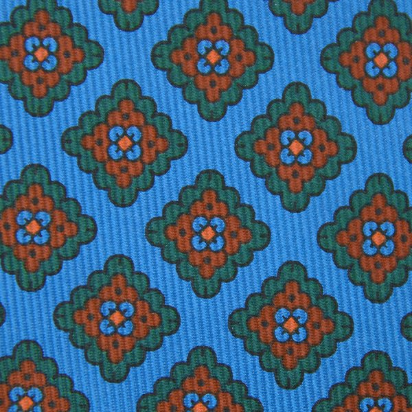 Ancient Madder Silk Bespoke Tie - Madder Blue