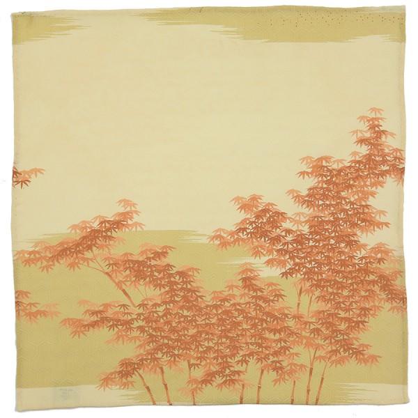 Vintage Kimono Silk Pocket Square - Beige I - Handrolled