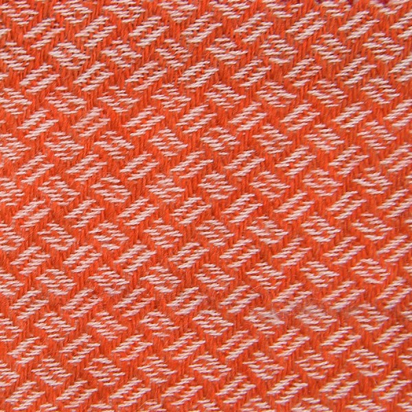 Geometrical Cashmere Bespoke Tie - Orange