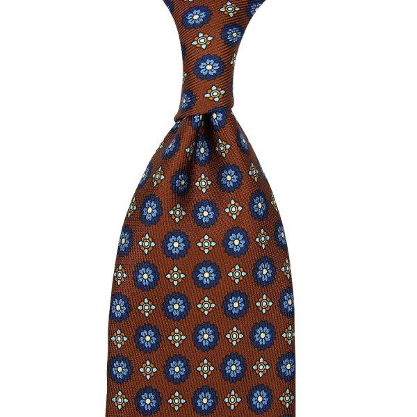 7-Fold 50oz Floral Printed Silk Tie - Oak