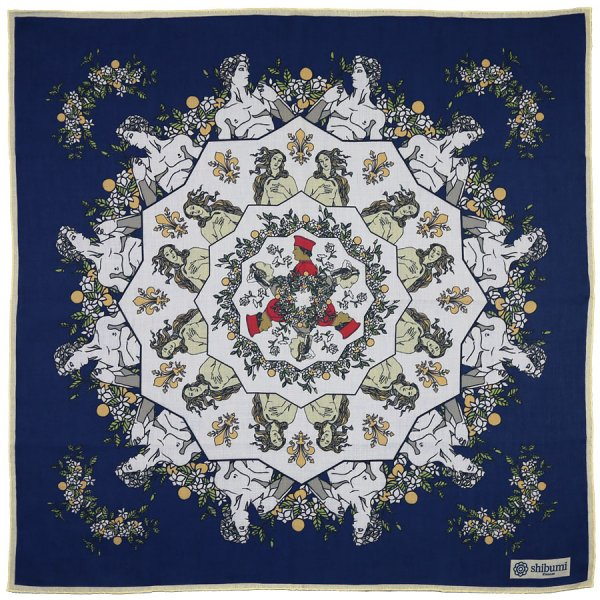 Davide Cotton Blend Neckerchief - Navy - 60x60cm