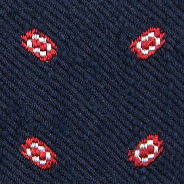 Geometrical Shantung Bespoke Tie - Navy I