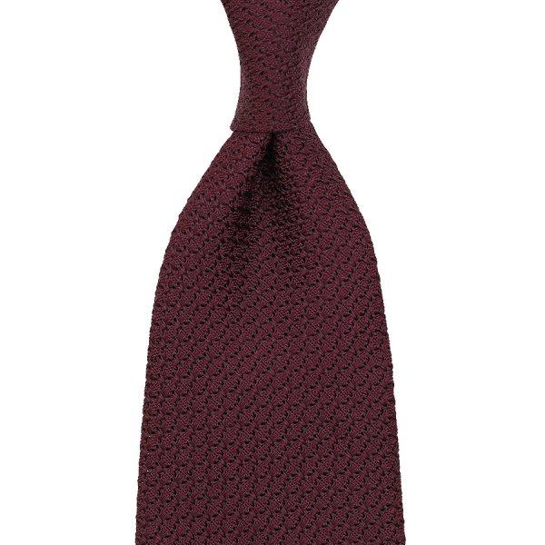 Grenadine / Garza Grossa Tie - Burgundy - Hand-Rolled