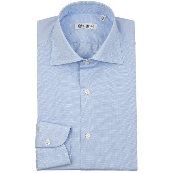 End-On-End Semi Spread Shirt - Sky Blue - Slim Fit