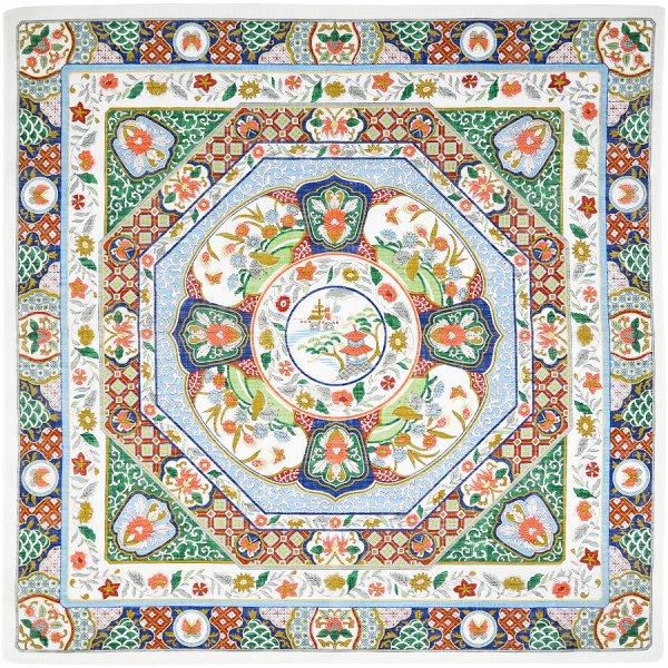Cotton Handkerchief With Floral Motif - Multicolored