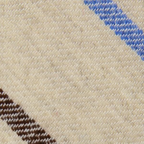 Striped Cashmere Bespoke Tie - Beige