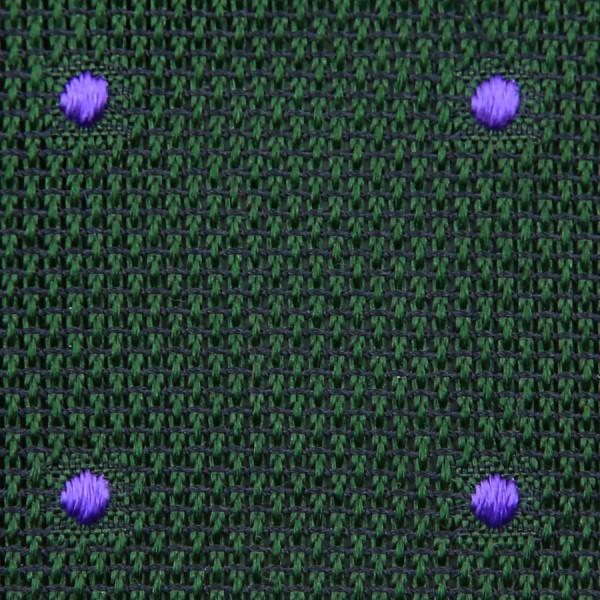 Dotted Grenadine / Garza Fina Bespoke Tie - Forest Green / Purple