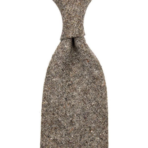 W. Bill Donegal Wool Tie - Beige - Hand-Rolled
