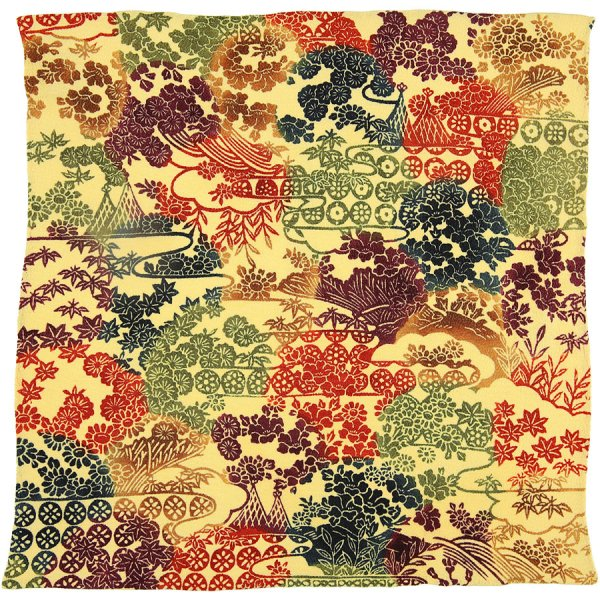Vintage Kimono Silk Pocket Square - Multicolored II