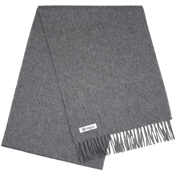 Cashmere Scarf - Slate - Plain