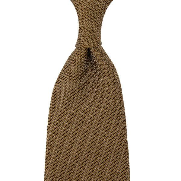 Grenadine / Garza Piccola Tie - Oatmeal - Hand-Rolled
