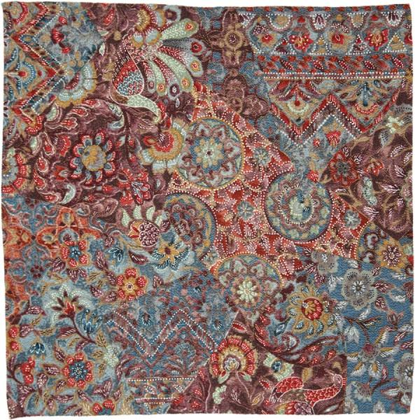 Kimono Silk Pocket Square - Wild Berries - Handrolled