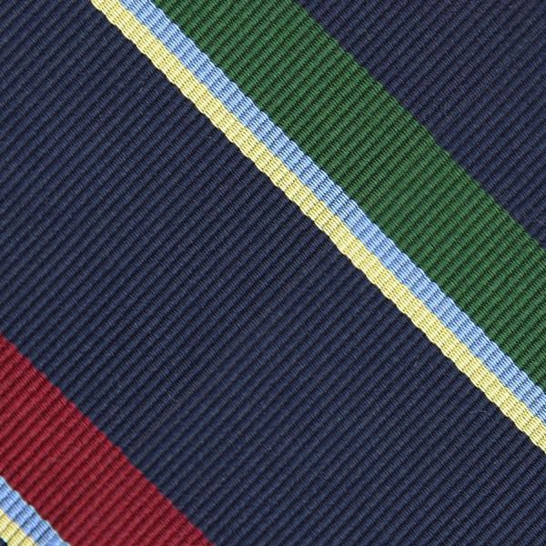 Bespoke Repp Stripe Silk Tie - Navy