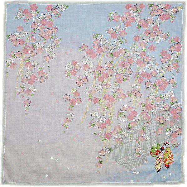 Japanese Motif Cotton Handkerchief - Pink