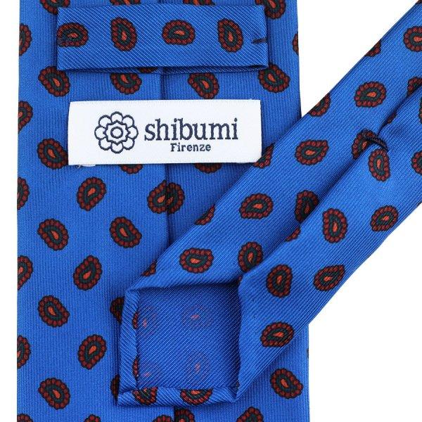 Floral Printed Wool Challis Tie - Eggplant - Handrolled