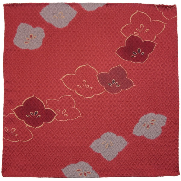 Kimono Silk Pocket Square - Cherry - Handrolled