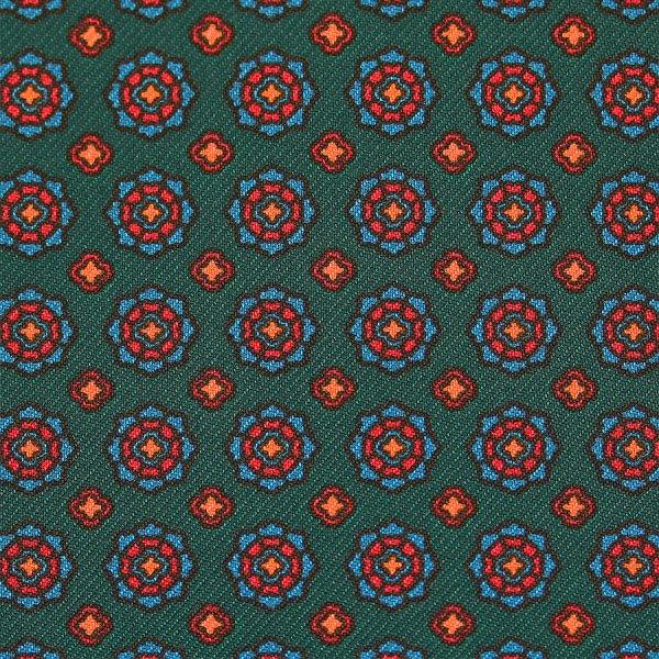Ancient Madder Silk Bespoke Tie - Forest Green
