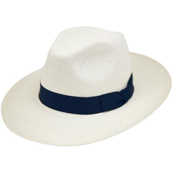 Shibumi Sen Panama Hat - Ivory / Navy