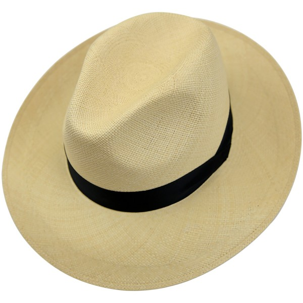 Panama Hat - Sand - Navy Ribbon