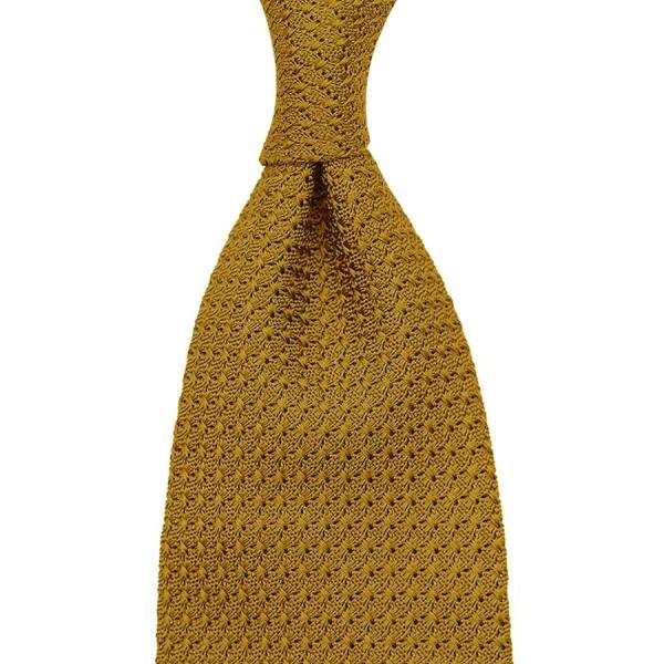 Grenadine / Garza Grossa Tie - Mustard - Handrolled