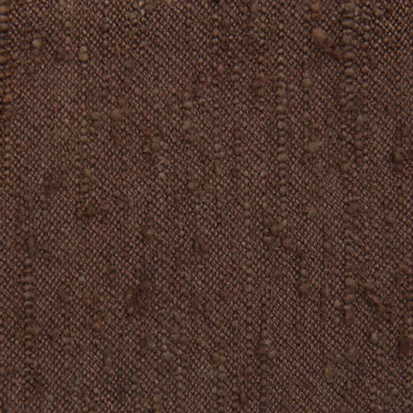 Plain Shantung Silk Bespoke Tie - Brown