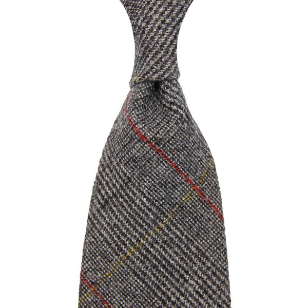 Vintage Fox Brothers Glencheck Wool Tie - Grey