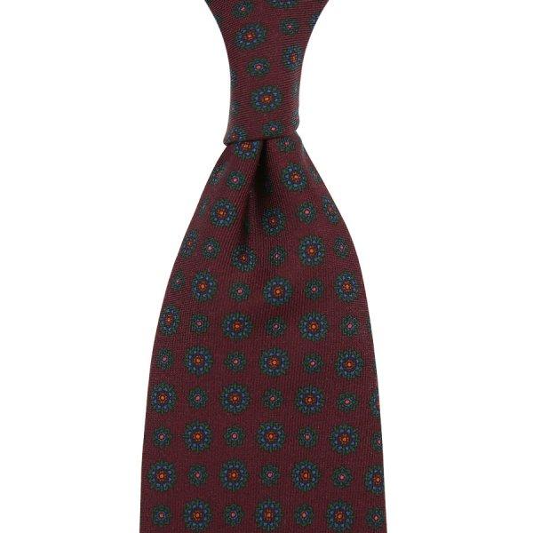 Ancient Madder Silk Tie - Burgundy IV - Hand-Rolled