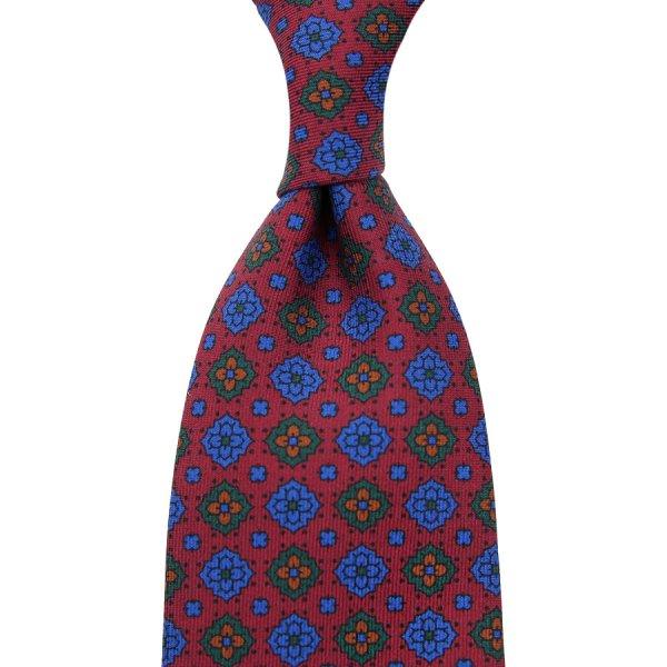 Ancient Madder Silk Tie - Cherry II - Hand-Rolled