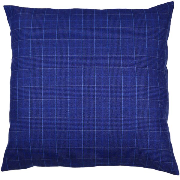 W. Bill Flannel Pillow - Blue Checked