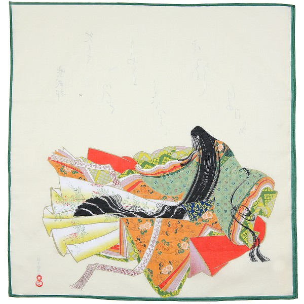 Japanese Motif Cotton Handkerchief - Forest