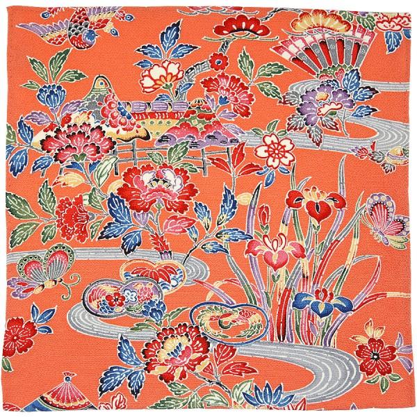Kimono Silk Pocket Square - Salmon - Handrolled