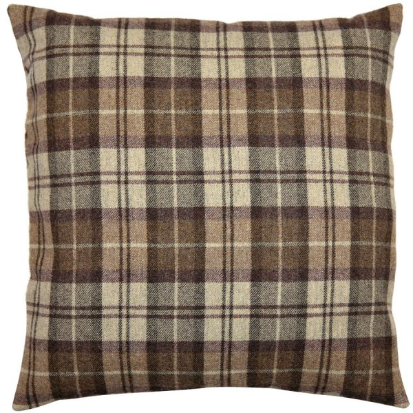 Vintage Fox Brothers Flannel Pillow - Brown Checked