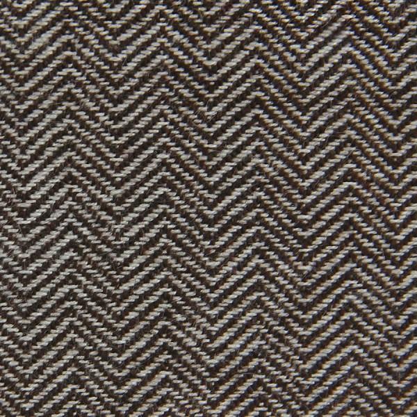 Herringbone Cashmere Bespoke Tie - Walnut