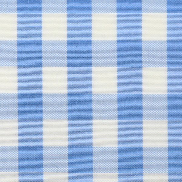Poplin Made-To-Order Shirt - White / Sky Blue - Gingham Big