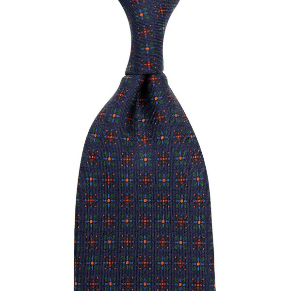 Ancient Madder Silk Tie - Navy XI .- Hand-Rolled