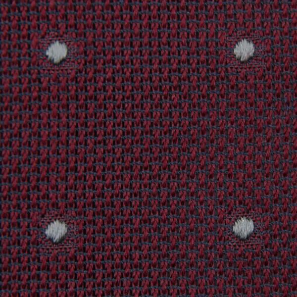 Dotted Grenadine / Garza Fina Bespoke Tie - Burgundy / Grey