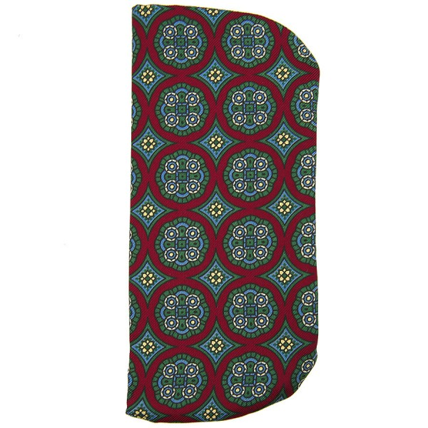 Floral Printed Silk Glasses Case - Cherry