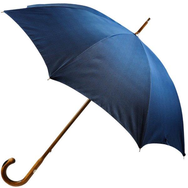 Navy Glencheck Umbrella - Hickory