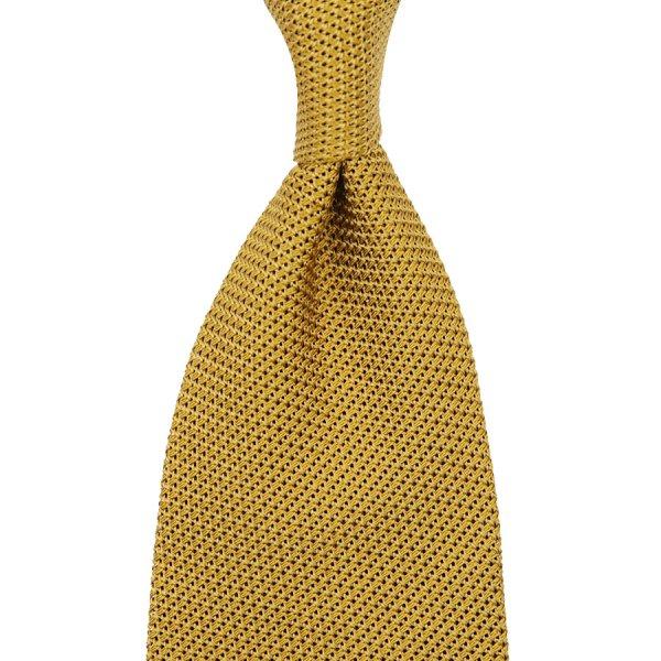 Grenadine / Garza Piccola Tie - Mustard - Hand-Rolled