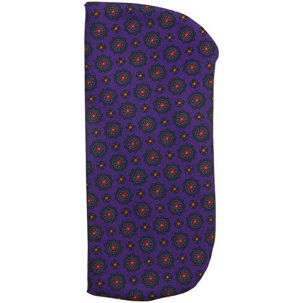 Ancient Madder Silk Glasses Case - Purple