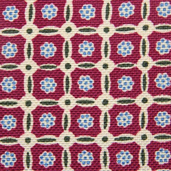 Floral Printed Panama Silk Bespoke Tie - Cherry