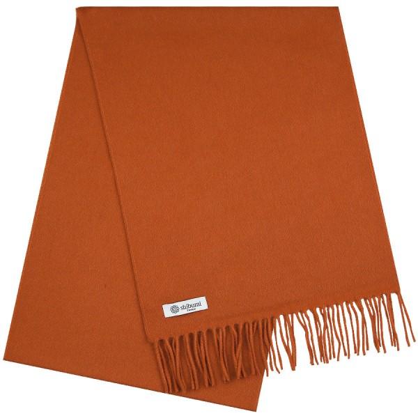 Cashmere Scarf - Rust - Plain