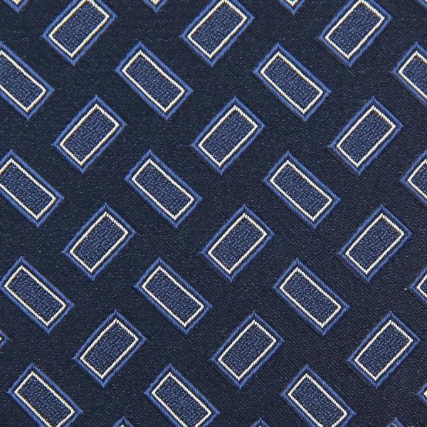 Vintage Geometrical Jacquard Bespoke Tie - Navy I