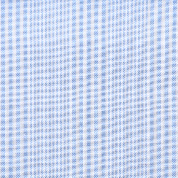 Poplin Made-To-Order Shirt - White / Sky Blue - Fantasy Stripe