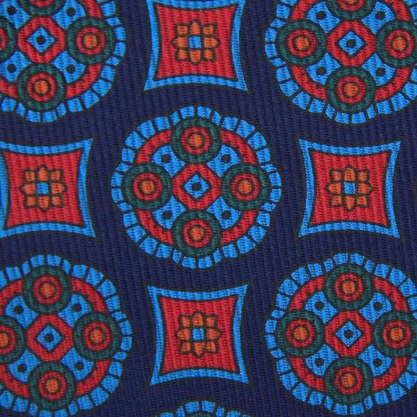 Ancient Madder Silk Bespoke Tie - Navy II