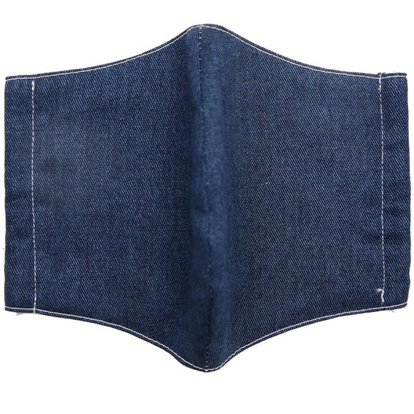 Denim Washable Cotton Mask - Navy