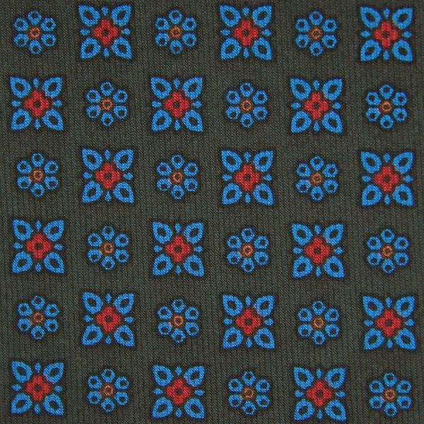 Ancient Madder Silk Bespoke Tie - Army