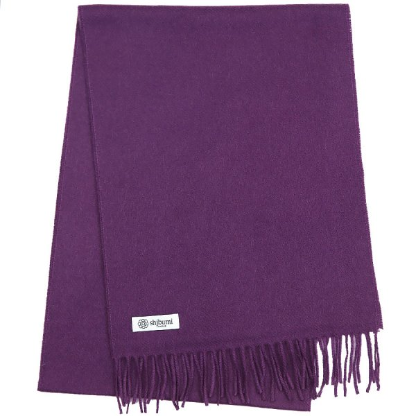 Cashmere Scarf - Purple - Plain